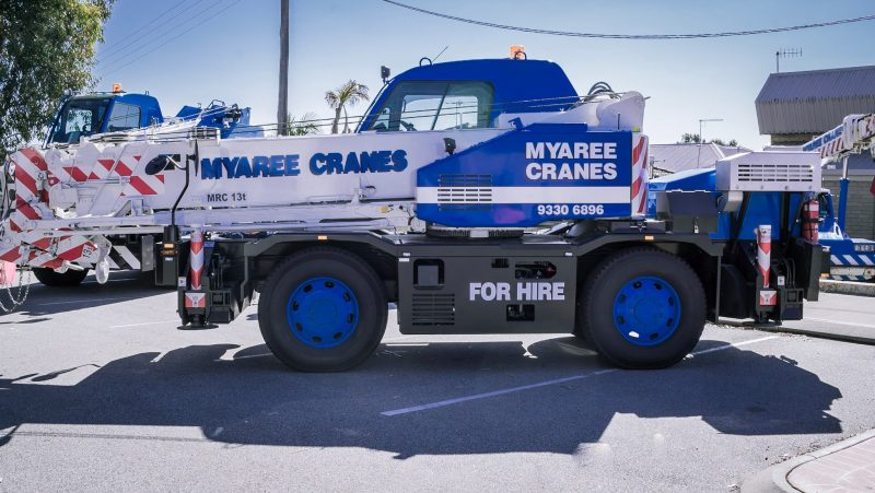 Tadano 13T Rough Terrain Slewing Crane - Myaree Crane Hire