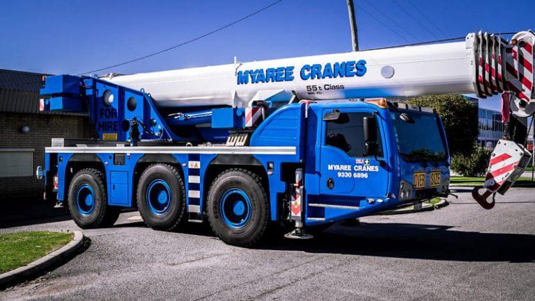 The De Mag - All Terrain Terex 3160 Challenger De Mag Slewing Crane - 55 Tonne - Myaree Crane Hire