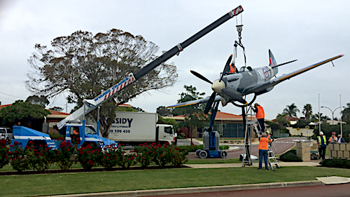 Myaree Crane Hire Perth Lifting a Plane