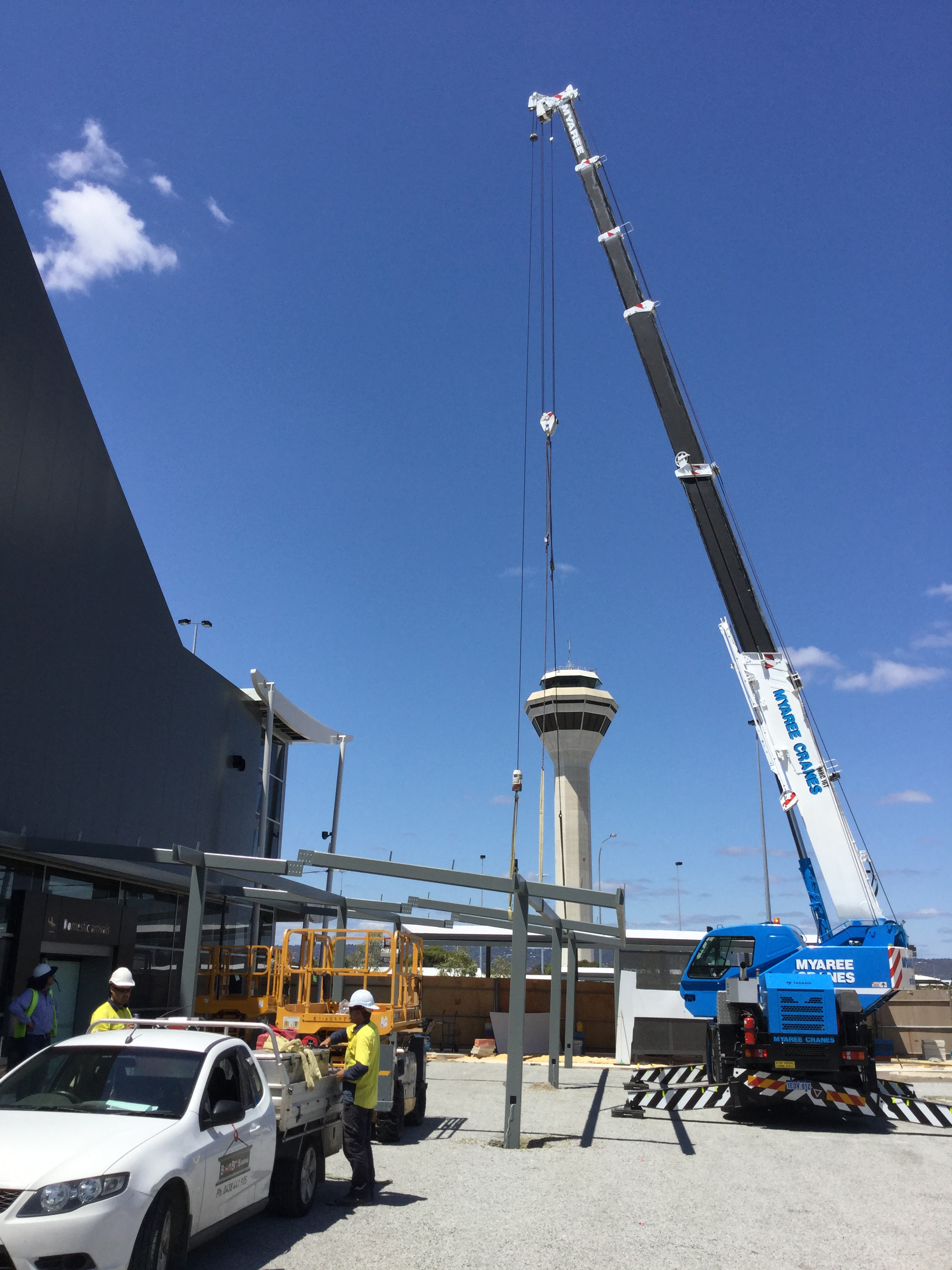 16T Perth Airport Awning Installation