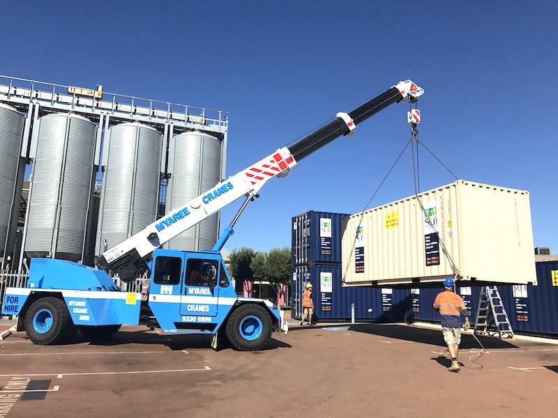 City of Fremantle container lifts for the Festival