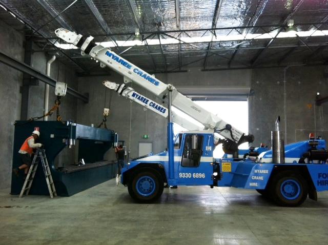 Dual lift bender inside factory